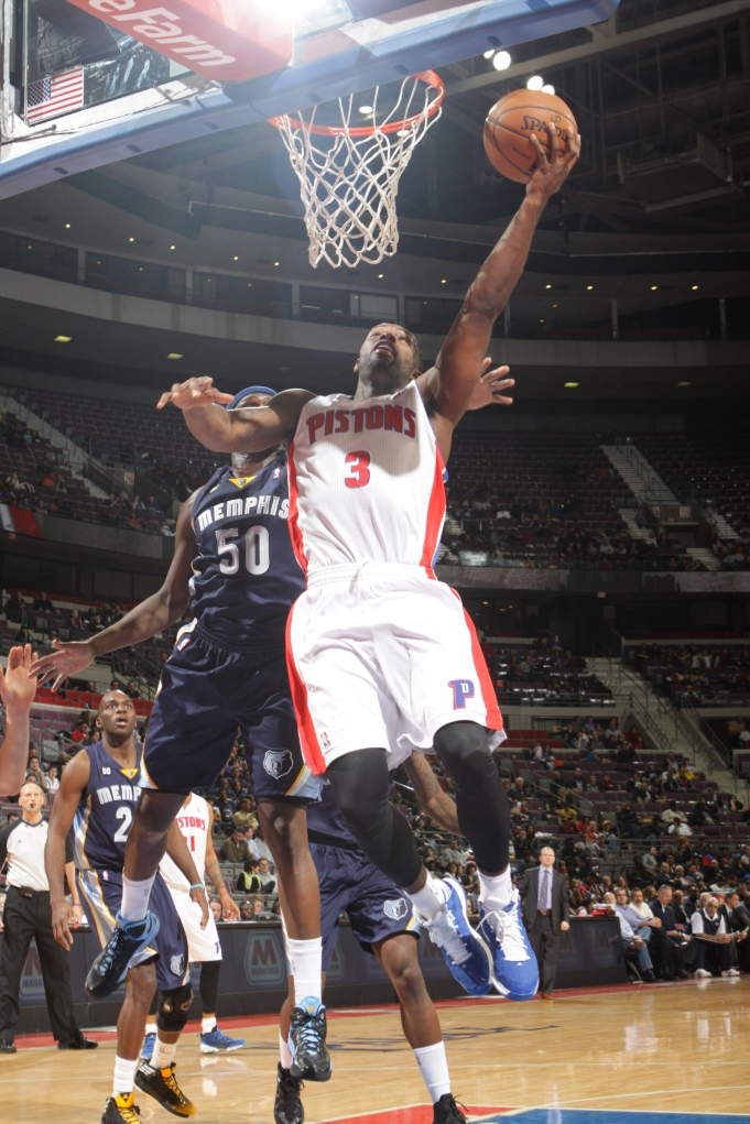 Rodney Stuckey going for a layup.