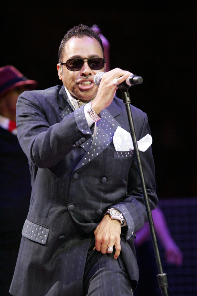 Morris Day performing live at the Palace during halftime.