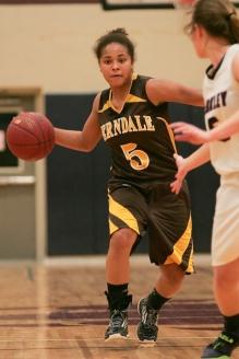 (Thursday February 13th 2014 - Berkley High School - Athletic Gym - Berkley, MI) Ferndale High's Micaela Ellis drives to the basket during Thursday night's game against Berkley High. Photo by: Brian B. Sevald