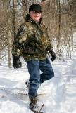 (Sunday February 9th 2014 - Heritage Park, Farmington Hills MI - Nature Center) Art Mikkola of Farmington Hills joins the snowshoe trek outside the Nature Center in Heritage Park in Farmington Hills. Photo by: Brian B. Sevald